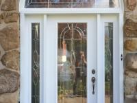 Steel Entry door with 2 sides and transom